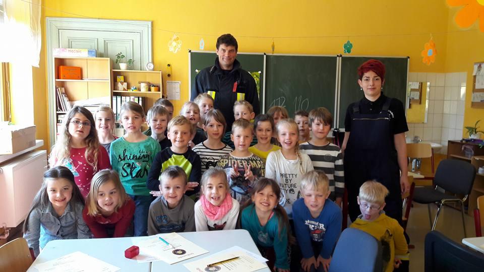 Evakuierungsübung Grundschule Erdeborn