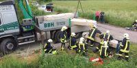 Feuerwehren des Seegebietes: Zusammenstoß zwischen Lkw und Kremser simuliert | Mitteldeutsche Zeitung